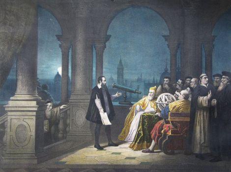 Galileo mostrando su telescopio a Leonardo Donato, duque de Venecia. Divulgación y política, hace tiempo ya iban de la mano.